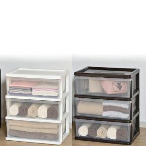 クローゼットチェスト(幅54cm) 3段 SI-W3 プラスチックケース 収納ケース 収納ボックス 引き出し 衣装ケース キャスター付き|e-kurashi