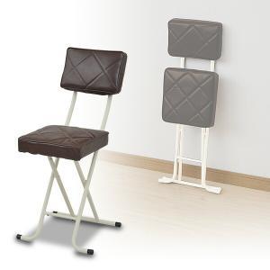折りたたみチェア(背もたれ付) YZX-56(BR) ブラウン 折り畳みチェア 折畳 折畳み 椅子 ...