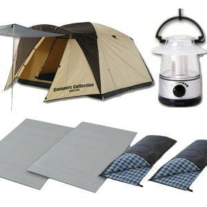 お買い得キャンプ6点セット (テント+ランタン+寝袋2個+マット2個) CSET-1315A テント ランタン 寝袋 マット【あすつく】|e-kurashi