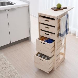 【送料無料】 山善(YAMAZEN)  キッチンストッカー (隠しキャスター付き)  SBK-903...