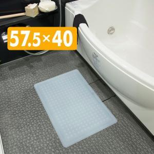 お風呂用滑り止めシリコンマット 4mm厚 4.0mm 57.5×40|e-kurashi