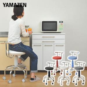 カウンターチェア 合成皮革 キャスター バーチェア キッチンチェアー キャスター付き 回転椅子 回転チェア CB-172(W)【あすつく】|e-kurashi