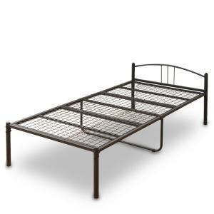 【送料無料】お部屋を選ばないシンプルなパイプベッド♪スチール製で頑丈! 山善(YAMAZEN)  シ...