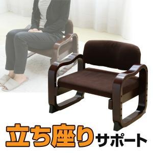 立ち上がりラクラク 座椅子 ローバック WYZ-55(DBR) ダークブラウン 座いす 座イス 1人掛けソファ いす イス 椅子 チェア 母の日 父の日【あすつく】|e-kurashi