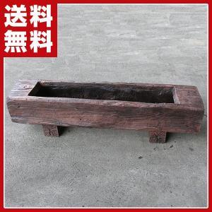 FRP軽量樹脂プランター 枕木風850(幅85cm) AKS-73863 ガーデニング 花壇 プランター|e-kurashi