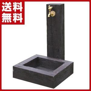 FRP軽量樹脂水栓セット 枕木調 AKS57115/57085 エクステリア 立水栓 水栓柱 カバー|e-kurashi