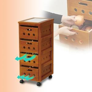 野菜ストッカーワゴン HYS-8030(OBR) ブラウン キッチンワゴン キッチンカウンター キッチンストッカー 収納|e-kurashi