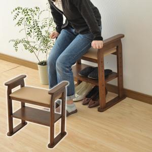 玄関ベンチ SP-1760(FBR) フレッシュブラウン 玄関椅子 玄関チェア 玄関スツール|e-kurashi