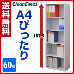 書庫 オープンラック 奥行35 5段 CEB-1860(WH) ホワイト 書棚 本棚 A4 収納 収納庫 多目的棚 オフィス収納 EBコーティング収納庫