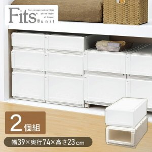 フィッツユニットケースL 3923/2個組 カプチーノ 衣装ケース 収納ボックス 押入れ フィッツ フィッツユニット