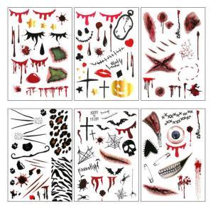 ハロウィンタトゥーペイント 2個以上ご購入でメール便送料無料|e-lensstyle