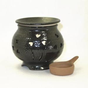 常滑焼 茶香炉4点セット 冨仙窯 草花彫 日本製|e-life|02