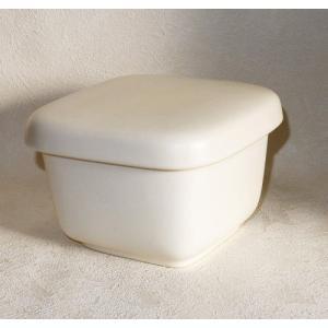 常滑焼 セラミック角型おひつ 白角小 直火可 耐熱陶器製|e-life