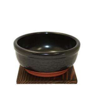 石焼ビビンバ鍋 台付 (中) 超耐熱陶器 日本製 萬古焼 e-life