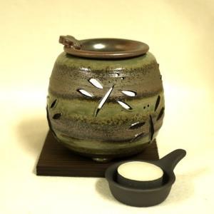 常滑焼 茶香炉セット 石龍窯 透かしトンボ (送料無料 沖縄・北海道・離島は除く)|e-life|02