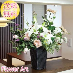 母の日 光触媒アートフラワー ツインカサブランカ 白いユリ ピンクのバラ お祝い|e-living