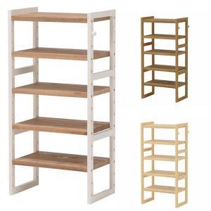 シェルフ棚 ラック 木製 パイン  幅45 奥行28 高さ92cm おしゃれ シューズラック e-living