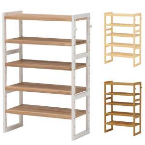 シェルフ棚 ラック 木製 パイン  幅60 奥行28 高さ92cm おしゃれ シューズラック|e-living