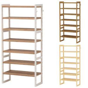 シェルフ棚 ラック 木製 パイン  幅60 奥行28 高さ128cm おしゃれ シューズラック|e-living