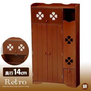 ○カラー:ブラウン(MB) ○サイズ:(約)幅50×奥行14×高さ87.5cm ■可動棚:2枚、固定...