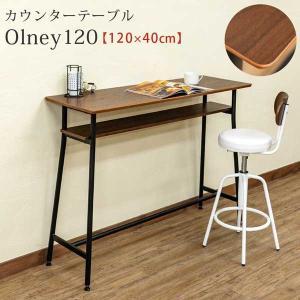 カウンターテーブル おしゃれ 収納 幅120cm|e-living