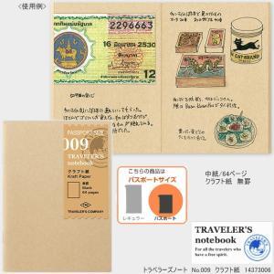 トラベラーズノート リフィル パスポートサイズ クラフト紙 009