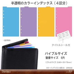 システム手帳 リフィル バイブル カラーインデックス 手帳で効率化|e-maejimu