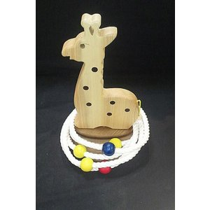 k.kurosawa国産無塗装ブナの輪投げキリン【木おもちゃ・玩具・輪投げ・わなげ・遊具】|e-meiboku