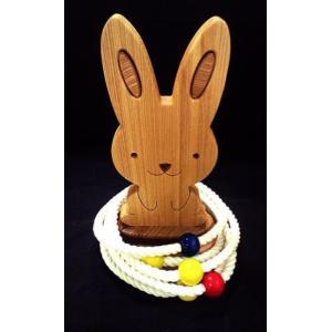 k.kurosawa日本製ハンドメイド無塗装の輪投げウサギ【木おもちゃ・玩具・輪投げ・わなげ・遊具】|e-meiboku