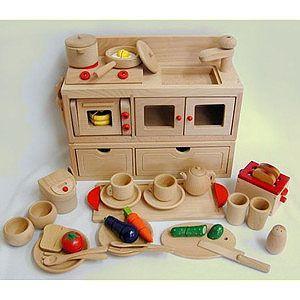 【ままごとキッチン・ままごと・木のおもちゃ】人気NO1 ブナ無塗装ままごとキッチンセット  e-meiboku