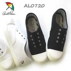 アーノルドパーマー レディース スリッポン AL0720 ホワイト・ブラック|e-minerva