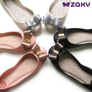 ザクシー zaxy START 3 パンプス ラバーシューズ レインシューズ リボン ZA81826|e-minerva