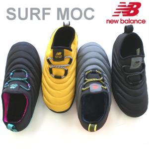 ニューバランス アウトドア シューズ スリッポン SURF MOC ブラック・イエロー CARAVAN MOC|e-minerva