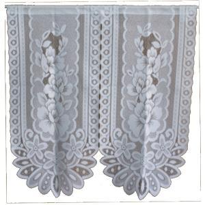 のれん レース暖簾(のれん) バテンローズ 65-192 85×90cm 日本製|e-minerva