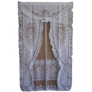 のれん レース暖簾(のれん) ムーラン 65-451 85×150cm 日本製|e-minerva
