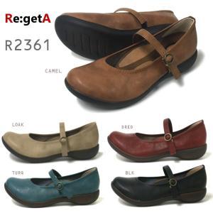 リゲッタ Re:getA R-2361 レディース ワンストラップフラットシューズ|e-minerva