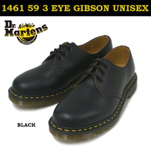 【国内正規品】ドクターマーチン Dr.Martens 1461 59 3ホール ギブソンシューズ GIBSON SHOE ブラック|e-minerva