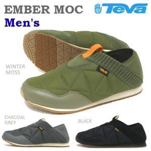 テバ Teva エンバーモック EMBER MOC メンズ ブラック・ウィンターモス・チャコールグレー|e-minerva