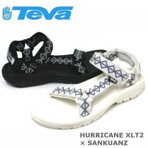 テバ Teva メンズ サンダル ハリケーン XLT 2 SANKUANZ(サンクアンズ)コラボ ブラック・ホワイト|e-minerva