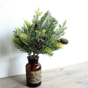 シダーブッシュ 造花 インテリア フェイクグ クリスマス スワッグリーン|e-mintcafe