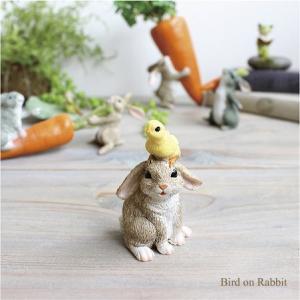 バードオンラビット うさぎ ウサギ 雑貨 ガーデン雑貨 インテリア|e-mintcafe