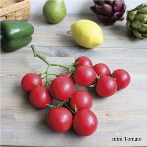 枝つきミニトマト 12ヶつき Vegetable 造花 雑貨 ガーデン雑貨 インテリア|e-mintcafe