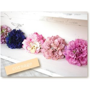 可愛い ポンポンダリアのコサージュ 造花|e-mintcafe