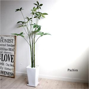 パキラ 3本立 105cm k-6 造花 インテリア 観葉植物 大型 フェイクグリーン  リアル おしゃれ 葉っぱ 送料別途 北海道 東北 沖縄|e-mintcafe