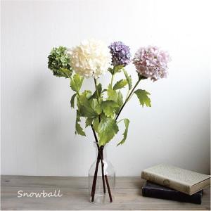 スノーボール 造花 インテリア 0100フェイクフラワー フラワーピック|e-mintcafe