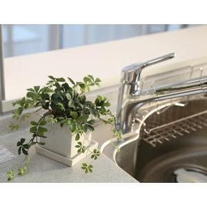 シサスアイビー シュガーバインプラント 四角鉢皿付 造花 観葉植物 インテリア フェイクグリーン|e-mintcafe