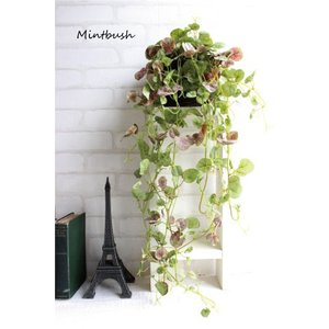 ミントブッシュハンギング Mintbush 造花 インテリア 光触媒 CT触媒 フェイクグリーン e-mintcafe