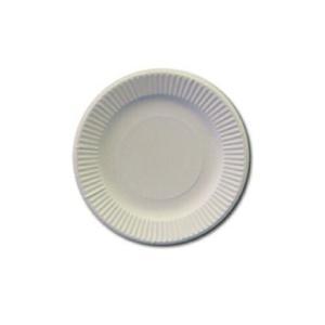 紙皿 18cm ホワイト 100枚
