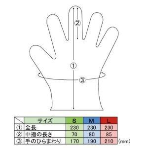 作業用使い捨て手袋 2135 プラスチックグローブ(粉無し) 200枚|e-miyaco|02