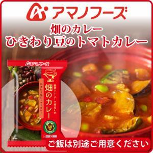 アマノフーズ フリーズドライ 畑のカレー ひきわり豆のトマトカレー 1食  ( お湯を入れるだけの 簡単 ・ 便利 ・ 美味しい カレー )( あす楽 )